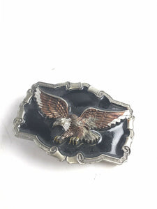 Assorted Lot Of 3 Mens Belt Buckles- Eagle & Horseshoe- 5712