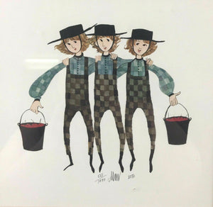"1985 PATRICIA BUCKLEY MOSS LITHOGRAPH ""BROTHERS THREE"" 551/1000 - LOT 3471"