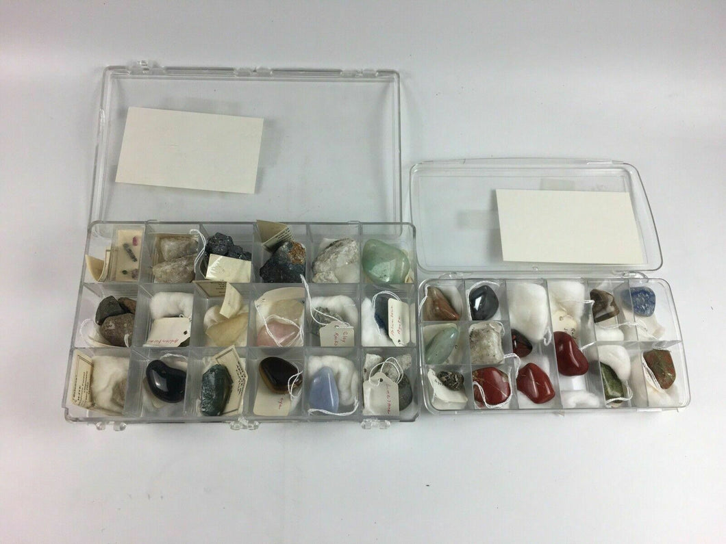 2pc Rock/Crystal Collection Boxes - Lot 4163