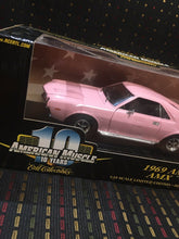 Load image into Gallery viewer, 1969 AMC AMX 10 YEARS AMERICAN MUSCLE ERTL 1:18  ERTL PINK 2001 Issue stock