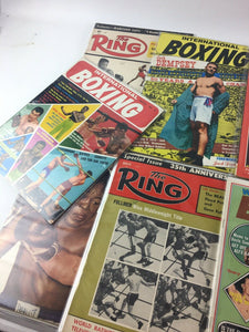 Assorted Lot Of 10 Vintage Boxing Magazines-1957-1969 MINT-5415