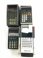 Load image into Gallery viewer, Lot Of 4 Vintage Calculator's - Texas Instruments And Canon