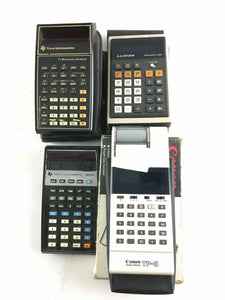 Lot Of 4 Vintage Calculator's - Texas Instruments And Canon