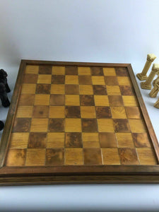 Studio Anne Carlton England Handcrafted Chess Piece Set W/ Chessboard #1450
