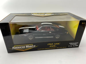 1969 AMC AMX BLACK 1:18 Ertl American Muscle 1 Of 3750