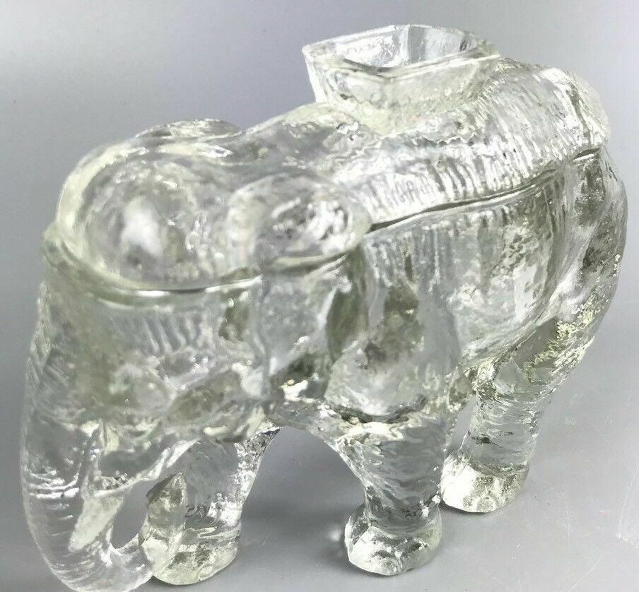 Co-Operative Clear Glass Elephant Jar- 1208