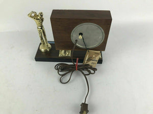 LANSHIRE CLOCK 1981 Golf TROPHY CLOCK - Works Great #1652