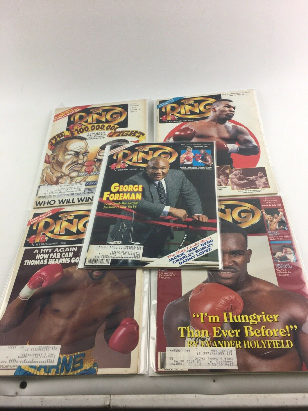 Assorted Lot Of 5 Vintage Boxing Magazines-1990-91 MINT-5542