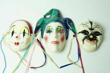 Load image into Gallery viewer, (3) Ceramic Wall Art Carnival Mask - lot 2477