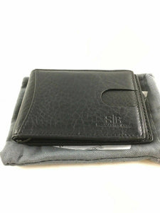 Travel Wallet RFID Blocking Bifold Slim Genuine Leather Thin Minimalist -3680