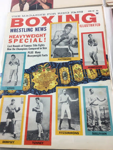 Assorted Lot Of 5 Vintage Boxing Magazines-1959-69 MINT-5521