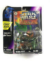 Load image into Gallery viewer, Star Wars Shadows of the Empire Boba Fett Vs. Ig 88 W/ COMIC BOOK 4623