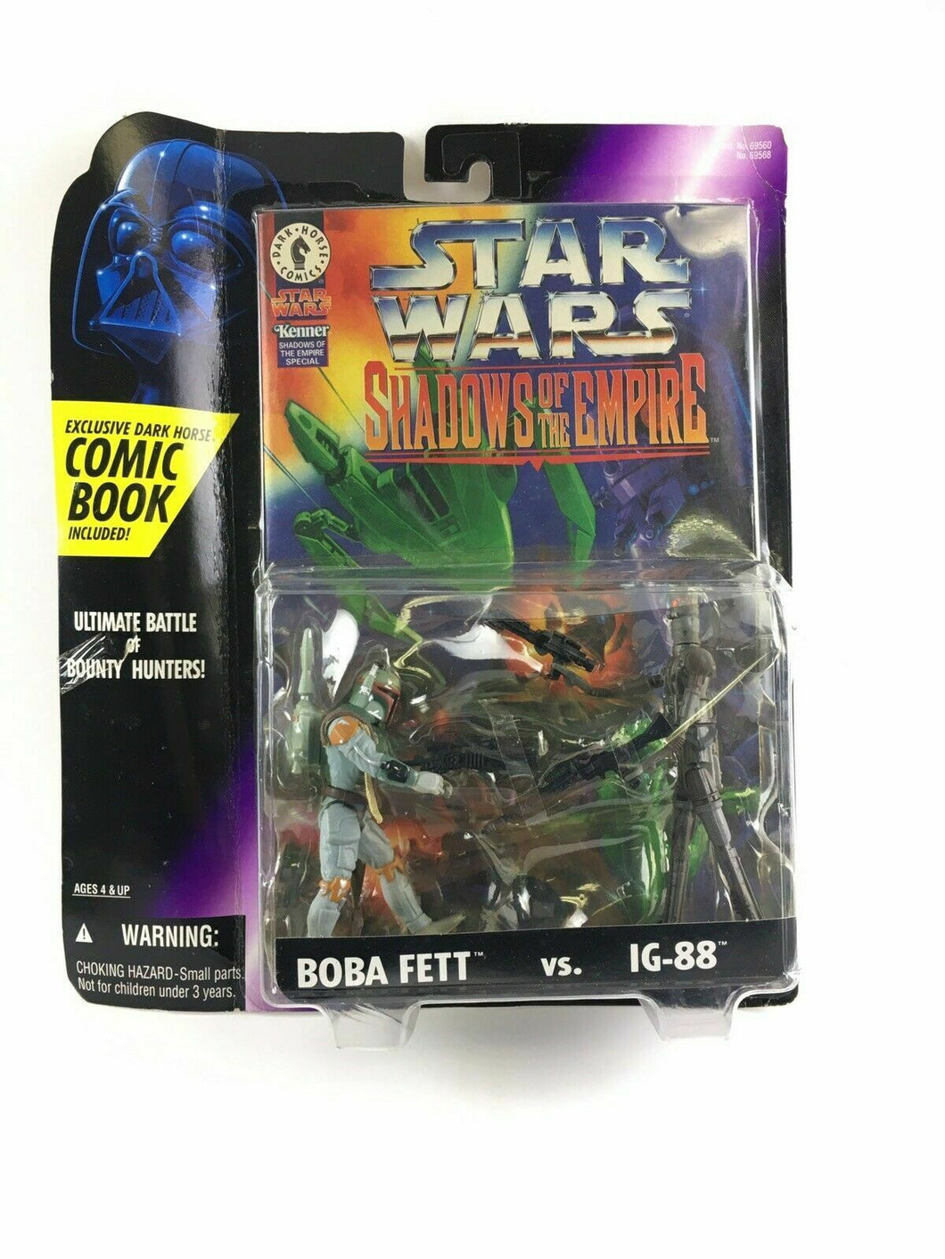 Star Wars Shadows of the Empire Boba Fett Vs. Ig 88 W/ COMIC BOOK 4623