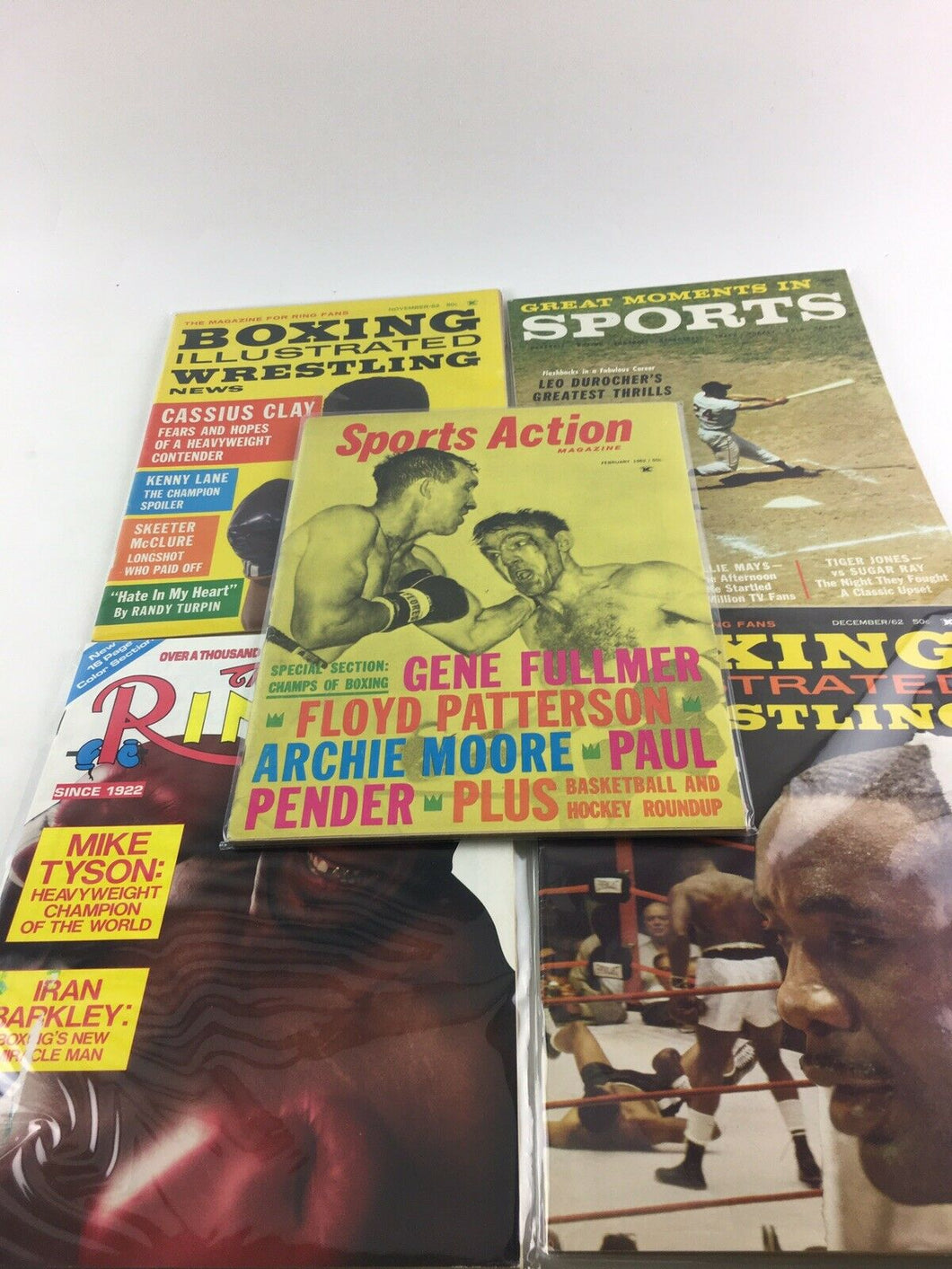 Assorted Lot Of 5 Vintage Boxing Magazines-1962-88 MINT-5520