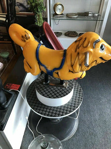 Vintage Lion Fiberglass Childrens Barber Chair