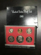 Load image into Gallery viewer, Vintage 1981 United States Proof Set- 2338
