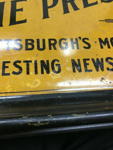 "Vintage ""The Press"" Newspaper Tray"