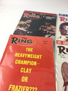 Assorted Lot Of 6 Vintage Boxing Magazines-1970 MINT-5417