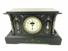 Load image into Gallery viewer, Antique Boston Clock Co. Marble Mantel Clock Open Escapement #1574