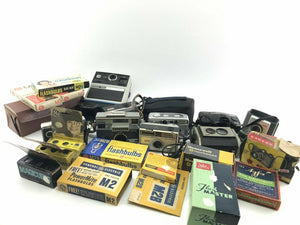 Assorted Lot Of Vintage Cameras & Camera Accessories- 3769