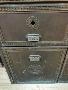 Antique 1800's Beaver Falls,PA 30 Slot Post Office Box