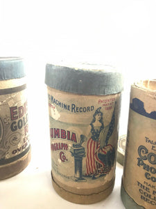 Antique Lot Of 4 Edison Record Cylinders- 5326