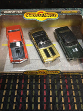 Load image into Gallery viewer, ERTL AMERICAN MUSCLE CLASS OF 1970 SET OF 3 CARS 1:43 SCALE DIE CAST FREE SHIP