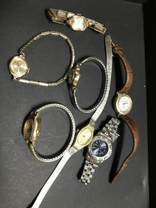 Assorted Lot Of 7 Vintage Womens Wrist Watches Elgin&Timex-2392