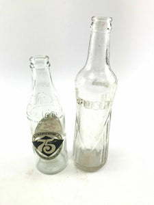 Assorted Lot Of Two Vintage Soda Bottle Coca-Cola & Crush-3760
