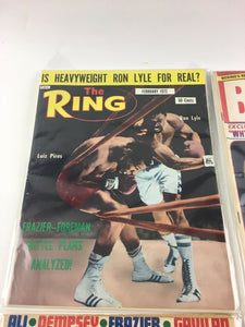 Assorted Lot Of 5 Vintage Boxing Magazines-1973-74 MINT-5497