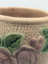 "Load image into Gallery viewer, VINTAGE ROSEVILLE ROZANE POTTERY EMBOSSED FLORAL VASE 8"" TALL"