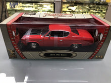 Load image into Gallery viewer, 1970 AMC Rebel Red 1:18 Road Legends YatMing 92778- 3213