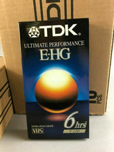 Load image into Gallery viewer, 19 TDK E-HG T-120 6 HOUR VHS STILL SEALED - LOT 3501