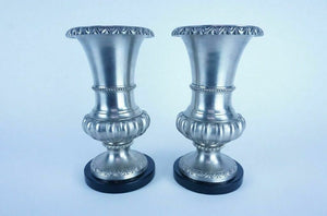 Pair of Polished Cast Mixed Metal Vases - Lot 1693