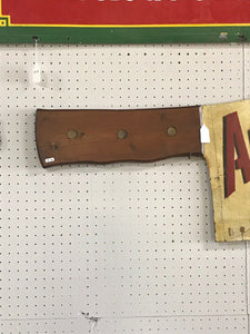 Vintage Antonio's Meats Meat Cleaver Sign-5105