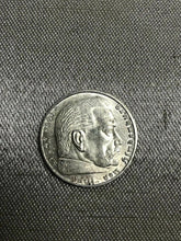 Load image into Gallery viewer, 1939 A Nazi Germany 2 Reichsmark silver mark German coin WWII war relic-2375