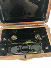 Load image into Gallery viewer, Mary Gregory Style Black Glass Casket Box- Lot 815