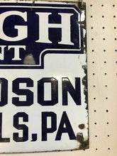 Load image into Gallery viewer, Antique Lehigh Double Sided Porcelain IngRich Sign- 4830