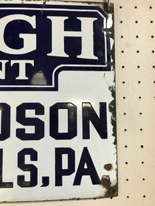 Antique Lehigh Double Sided Porcelain IngRich Sign- 4830