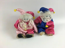 Load image into Gallery viewer, 2pc Vintage Made In China Porcelain Jester Dolls - Lot 3853