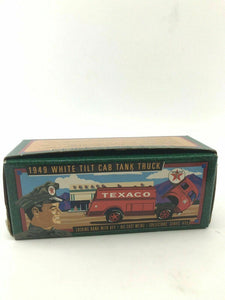 1949 Texaco White Tilt Cab Tank Truck-locking Bank-4321