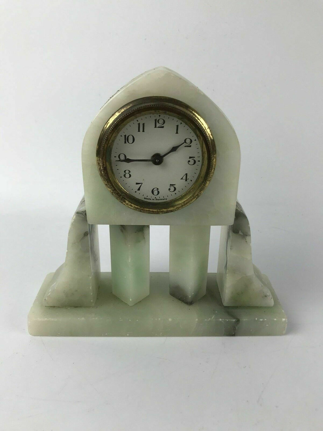 Vintage Desk/Mantel Full Marble Clock Made in Germany - Works #1524