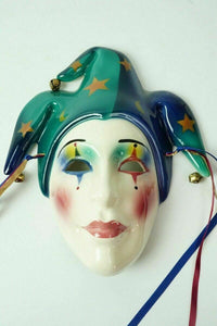 (3) Ceramic Wall Art Carnival Mask - lot 2477