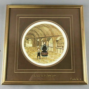 "1982 PATRICIA BUCKLEY MOSS LITHOGRAPH ""MARKET PLACE, CHIPPING CAMDEN"" - LOT 3470"