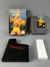 Load image into Gallery viewer, VINTAGE NES WRESTLE MANIA GAME WITH ORIGINAL BOX CIB - LOT 3534