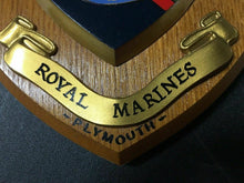 Load image into Gallery viewer, BAND OF HER MAJESTY'S ROYAL MARINES PLYMOUTH WALL PLAQUE - LOT 4118R