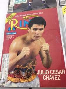 Assorted Lot Of 5 Vintage Boxing Magazines-1989 MINT-5501
