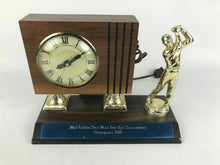 Load image into Gallery viewer, LANSHIRE CLOCK 1981 Golf TROPHY CLOCK - Works Great #1652