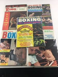 Assorted Lot Of 5 Vintage Boxing Magazines-1970-71 MINT-5481