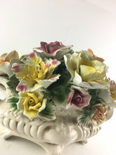 Load image into Gallery viewer, Vintage Capodimonte Porcelain Flower Tabletop Bouquet Footed Centerpiece 4945